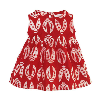 Babies Sundress Bugs Red - Global Mamas (Fair Trade)
