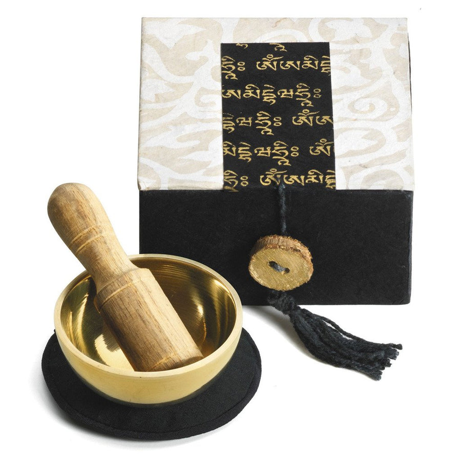 "Mini Meditation Bowl Box: 2"" Om Mani - DZI (Fair Trade)"
