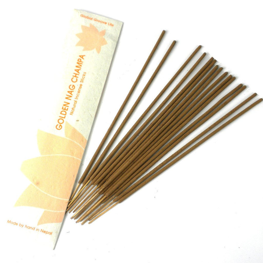 Stick Incense, Golden Nag Champa - Global Groove (Fair Trade)