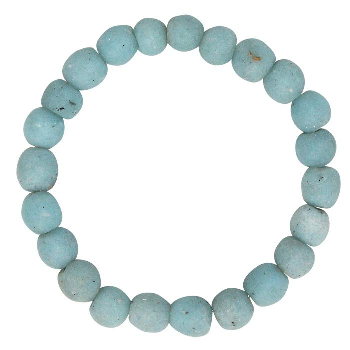 Global Mamas Glass Pearls Bracelet Light Blue - Global Mamas (Fair Trade)