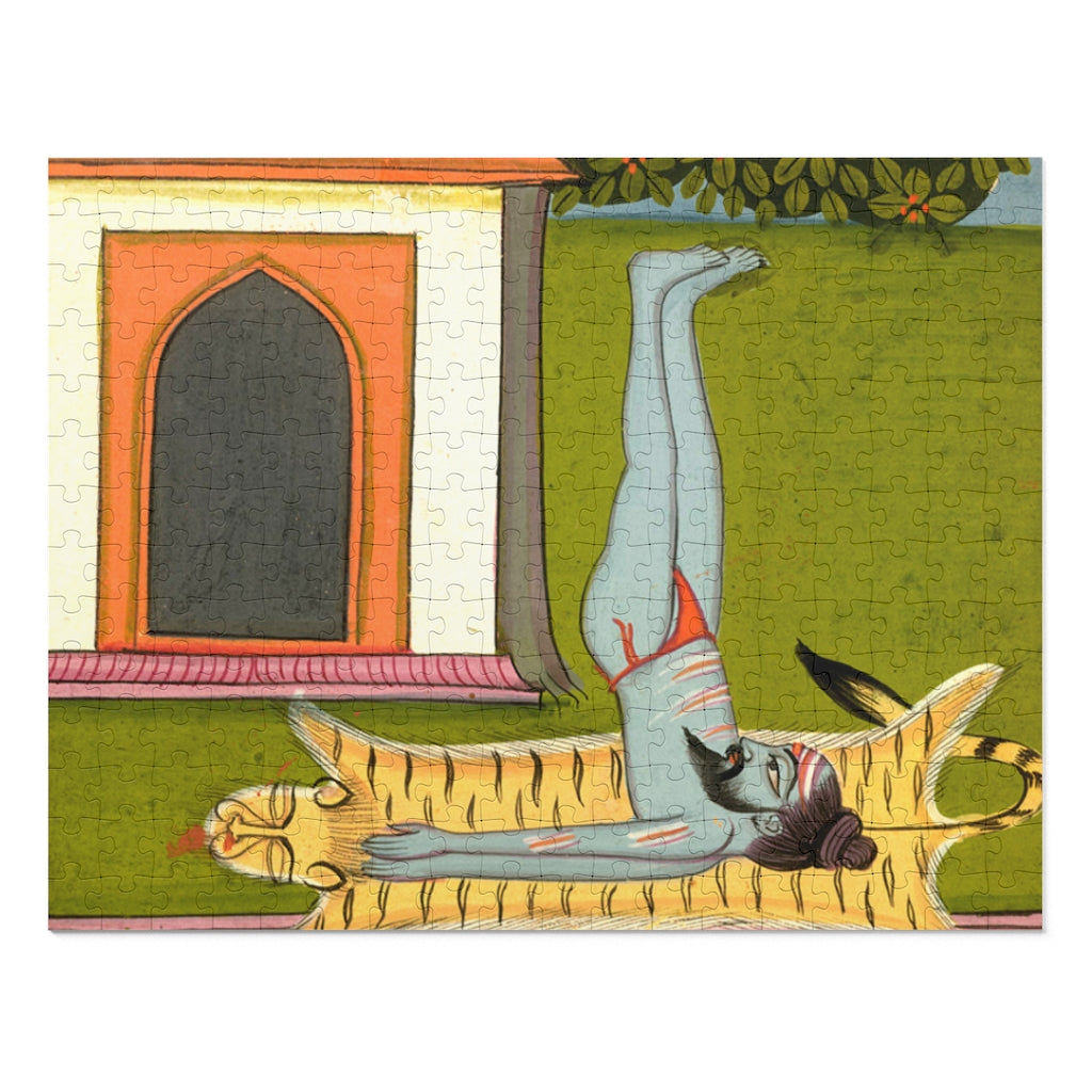 Hatha Yogi Performing Sarvangasana -  Shoulder Stand 252 Piece Puzzle