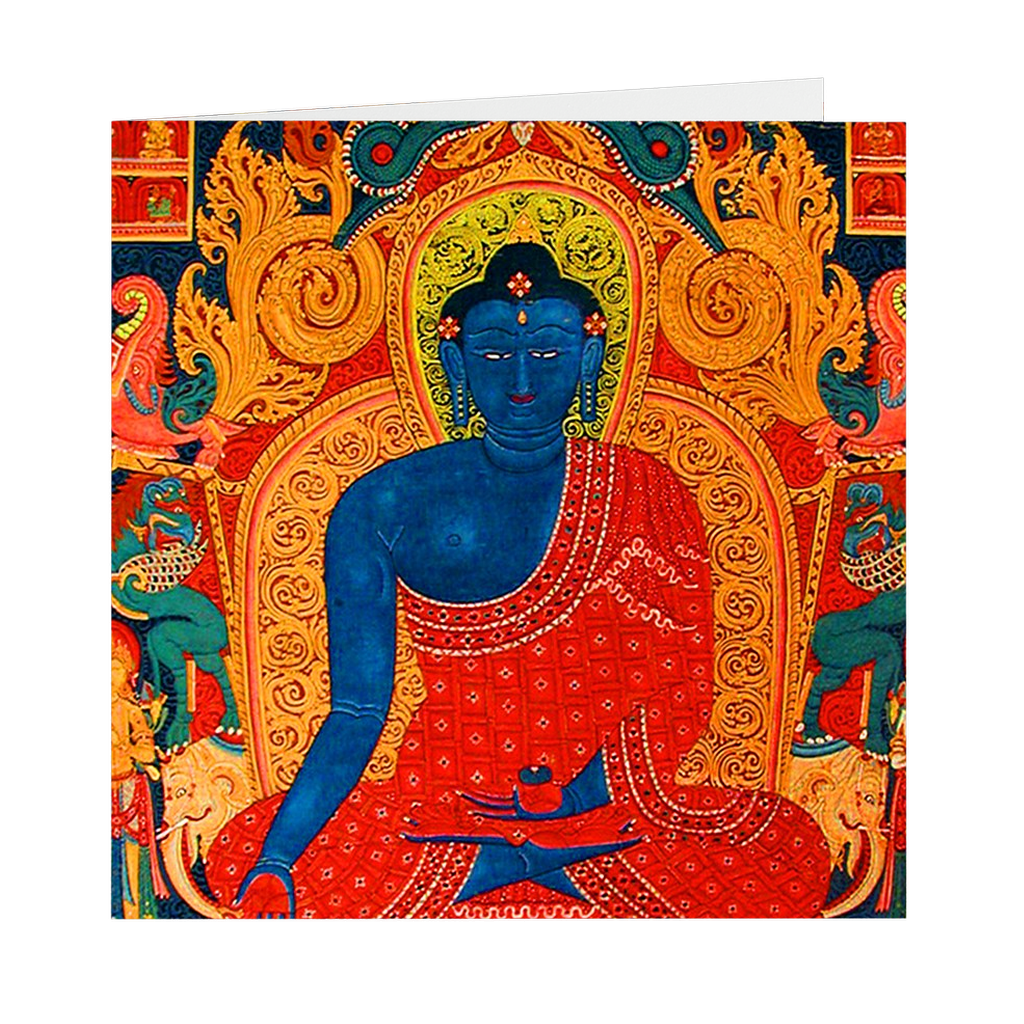 "Medicine Buddha 5"" X 5"" Note and Greeting Cards"