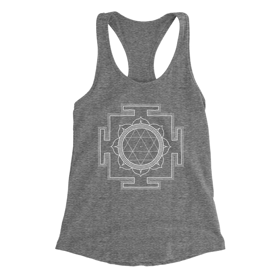 Durga Yantra Symbol of Courage Women's Racerback Tank Top