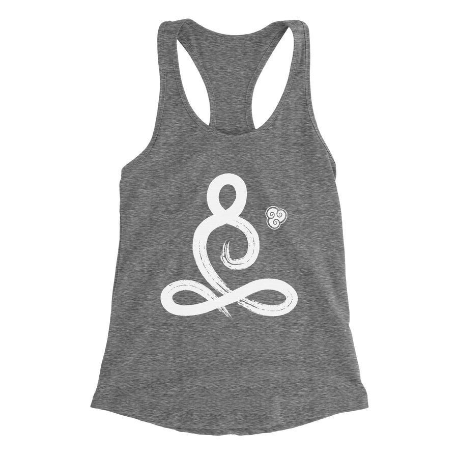 Brush Stroke Meditator Women's Racerback Tank Top