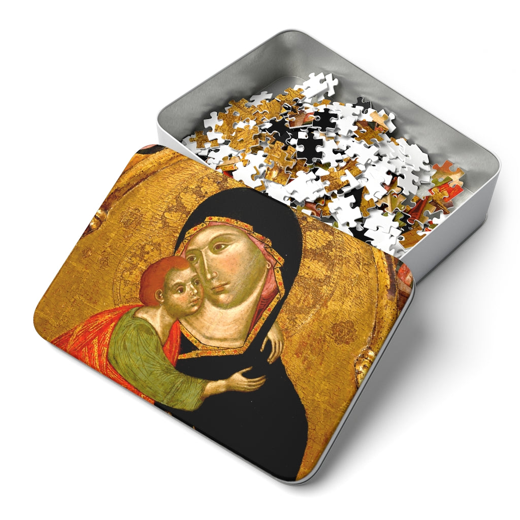 Virgin and Child Medieval Icon 252 Piece Puzzle