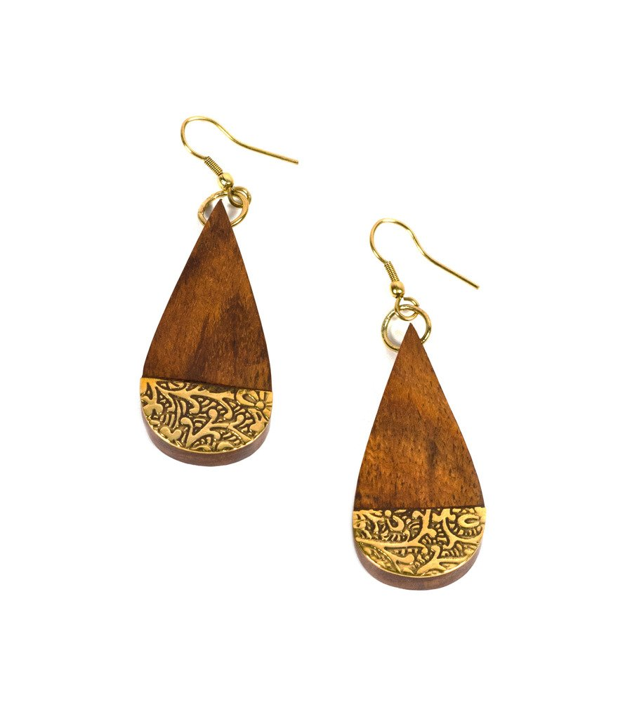 Earth and Fire Earrings - Teardrop - Matr Boomie (Fair Trade)