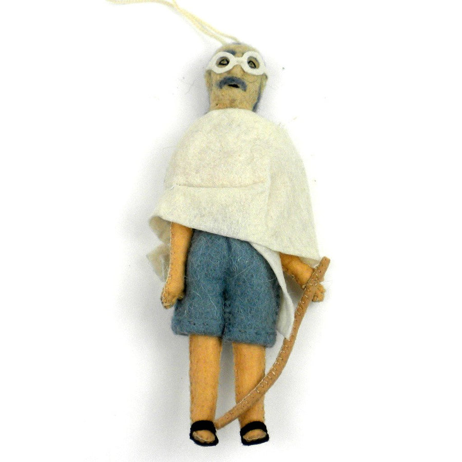 Gandhi Felt Ornament - Silk Road Bazaar (Fair Trade)