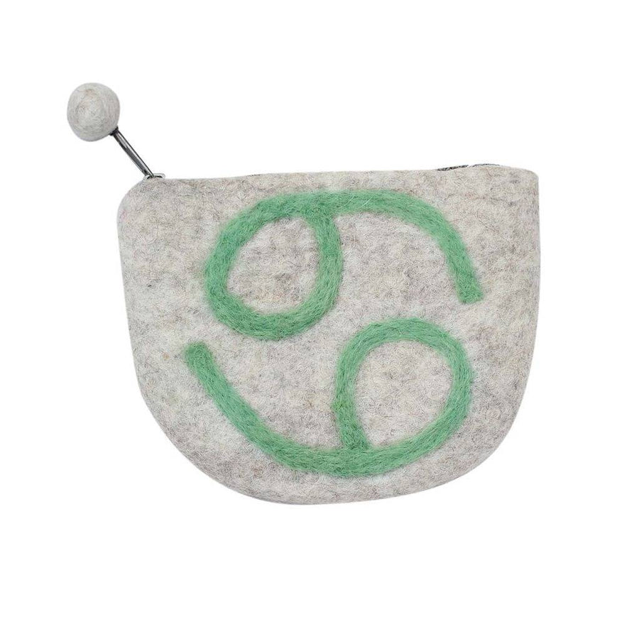 Felt Cancer Zodiac Coin Purse - Global Groove (Fair Trade)