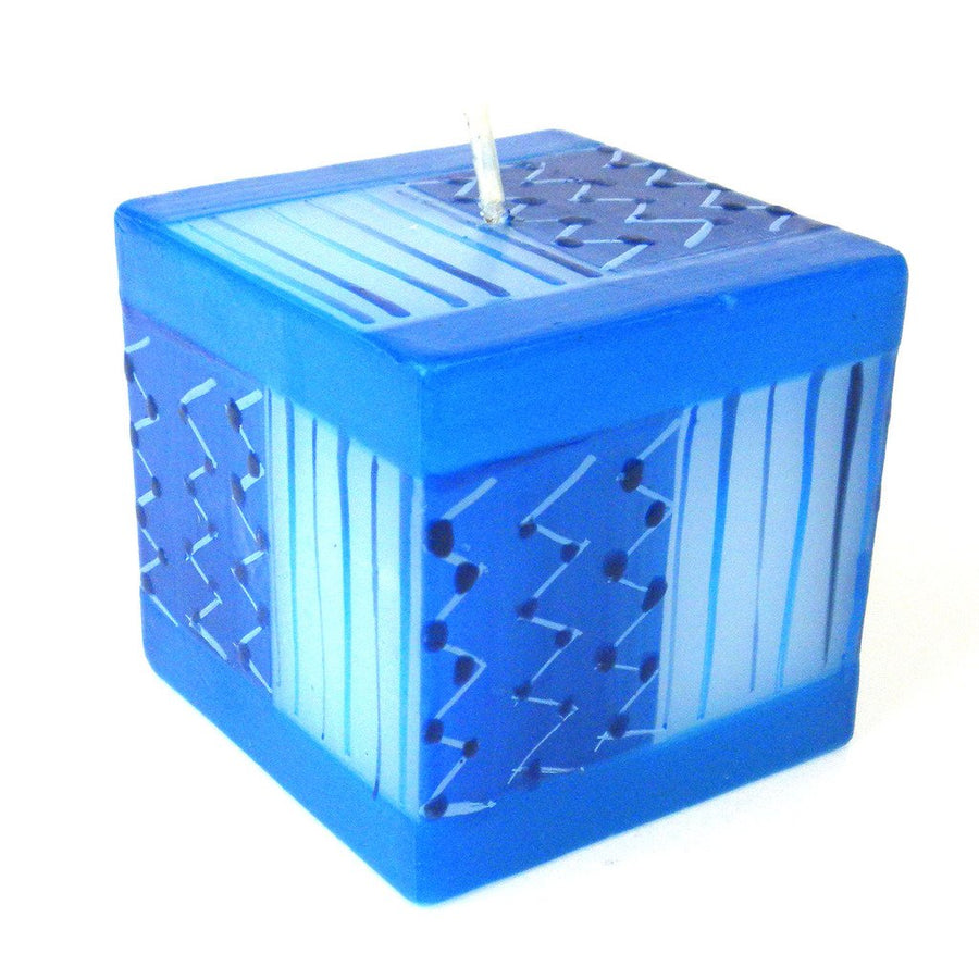 Hand Painted Candle - Cube - Feruzi Design - Nobunto (Fair Trade)