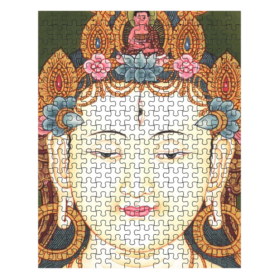 The Peaceful, Radiant Face of Avalokiteshvara Puzzle