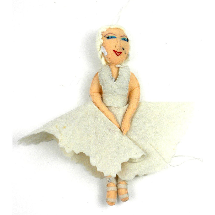 Marilyn Monroe Felt Ornament - Silk Road Bazaar (Fair Trade)