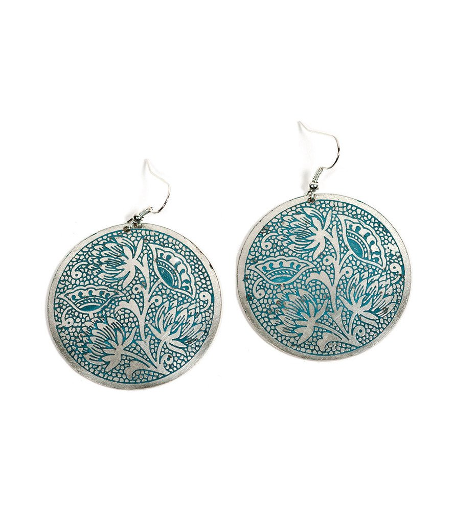 Padma Earrings - Teal - Matr Boomie (Fair Trade)