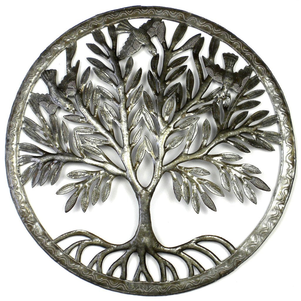 Tree of Life in Ring Wall Art - Croix des Bouquets (Fair Trade)