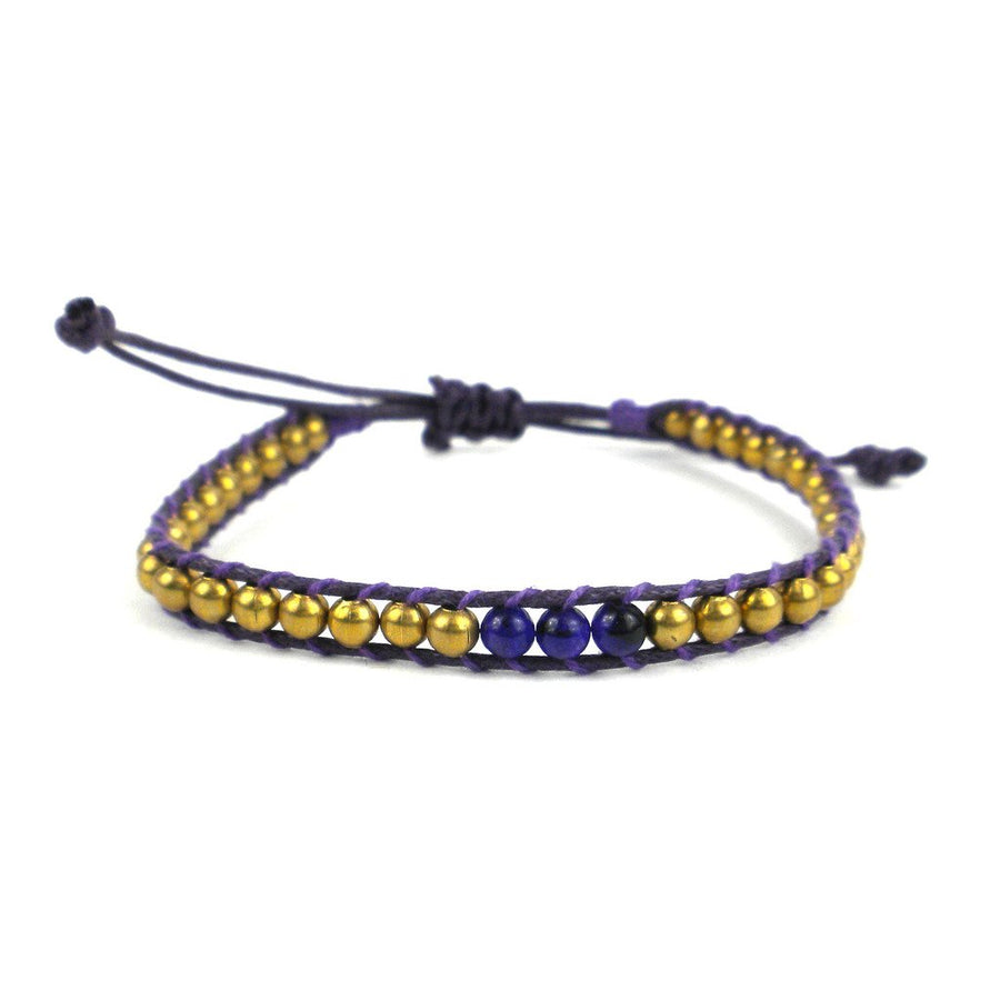 7th Chakra Bracelet -Purple - Global Groove (Fair Trade)