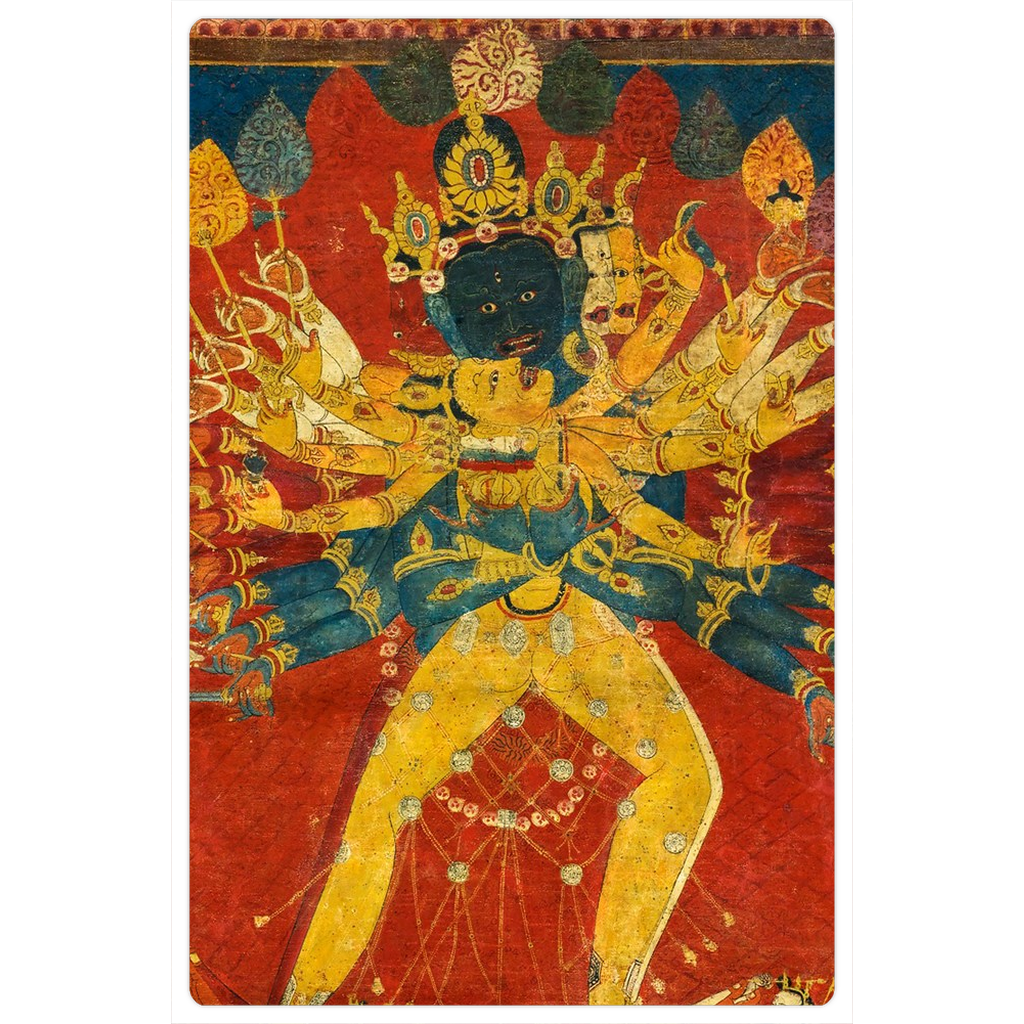 "Mahakala and Consort 4x6"" Fine Art Magnet"
