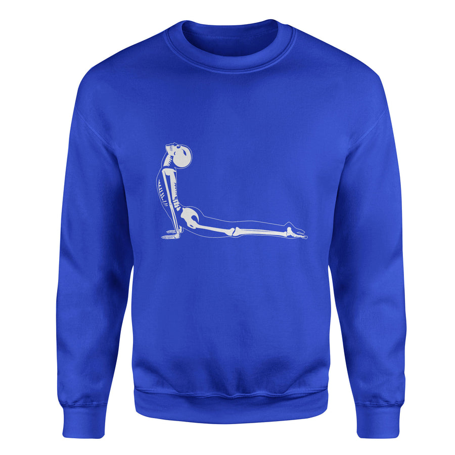 X-Ray Cobra Yoga Pose Bhujangasana Adult Crewneck Sweatshirt - White Design