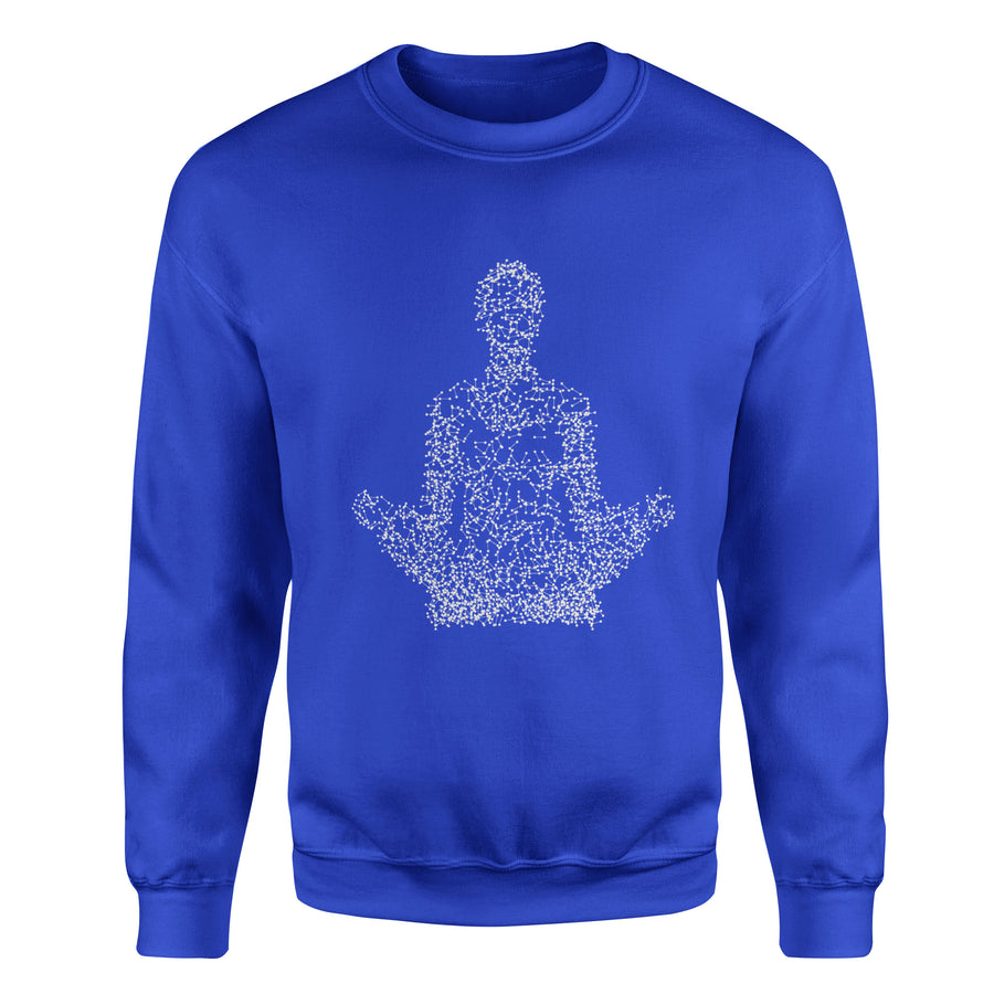 The Point of Meditation Adult Crewneck Sweatshirt - White Design