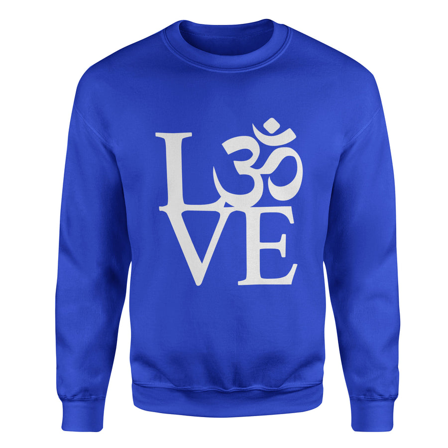 OM Love Adult Crewneck Sweatshirt - White Design