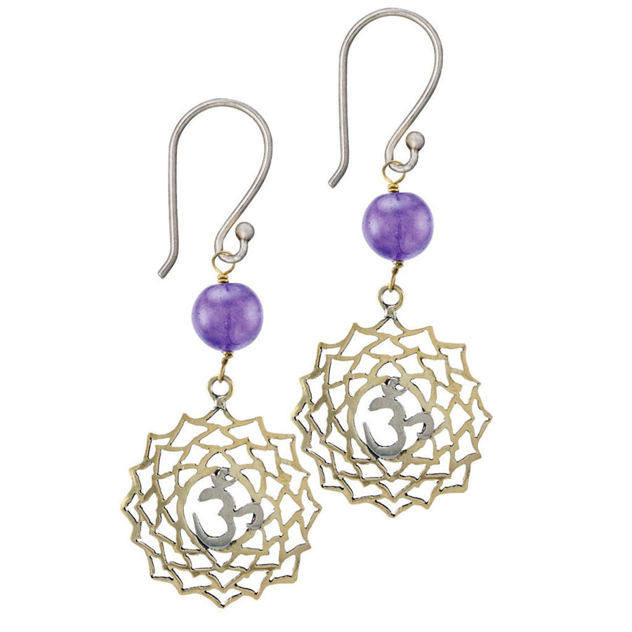 Crown Chakra Earrings - Sahasrara Chakra - Enlightenment - Tibet Collection