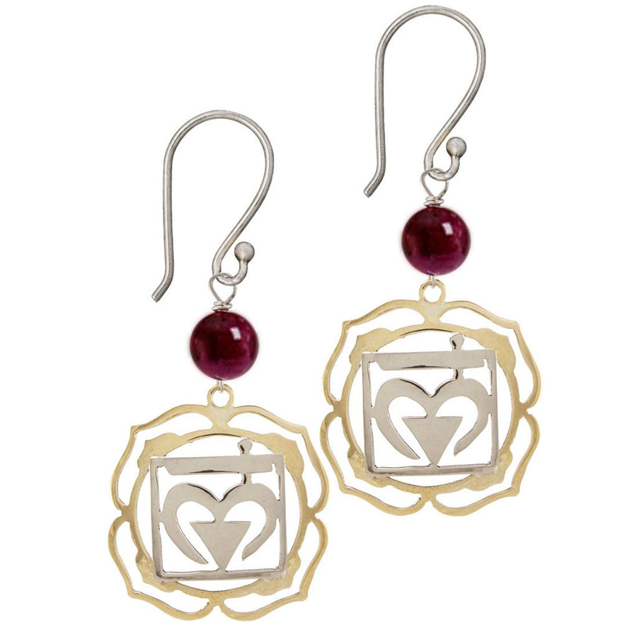 Root Chakra Earrings - Muladhara Chakra - Grounding - Tibet Collection