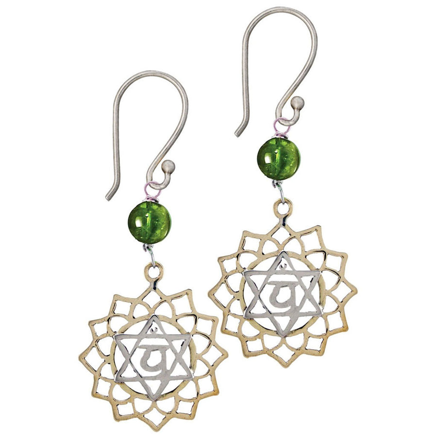 Heart Chakra Earrings - Anahata Chakra - Love - Tibet Collection