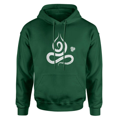 Meditator in Ecstasy Adult Hoodie Sweatshirt - White Design