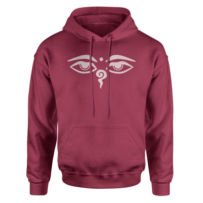 Eyes of the Buddha Hoodie Sweatshirt - White Design