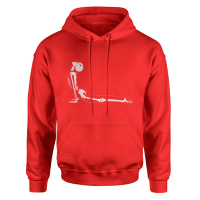 X-Ray Cobra Yoga Pose Bhujangasana Adult Hoodie Sweatshirt - White Design