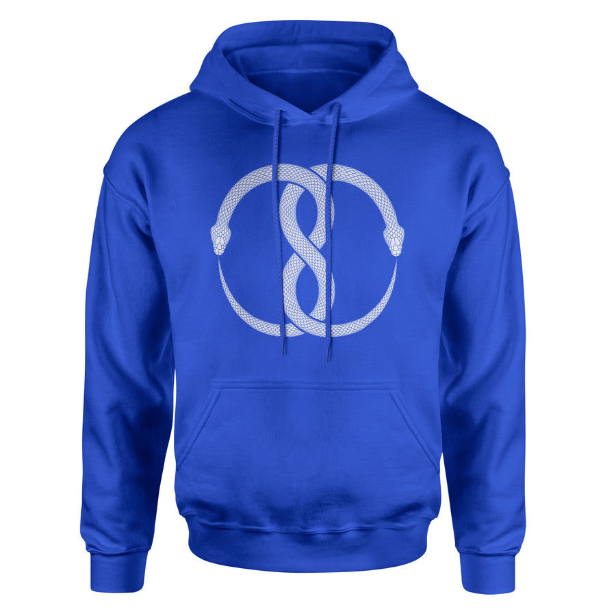 Ouroboros – Alchemical Symbol of Eternity and Wholeness Adult Hoodie Sweatshirt - White Design