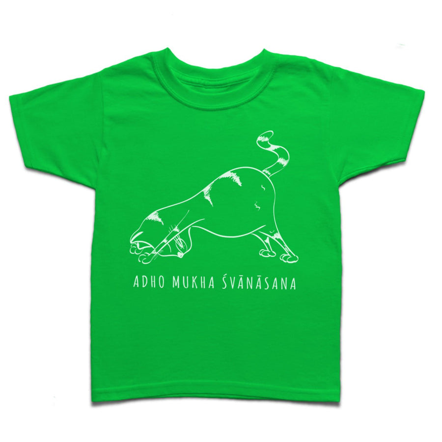 Yoga Cat Downward Facing Dog Ardho Mukha Svanasana Kid's T-shirt