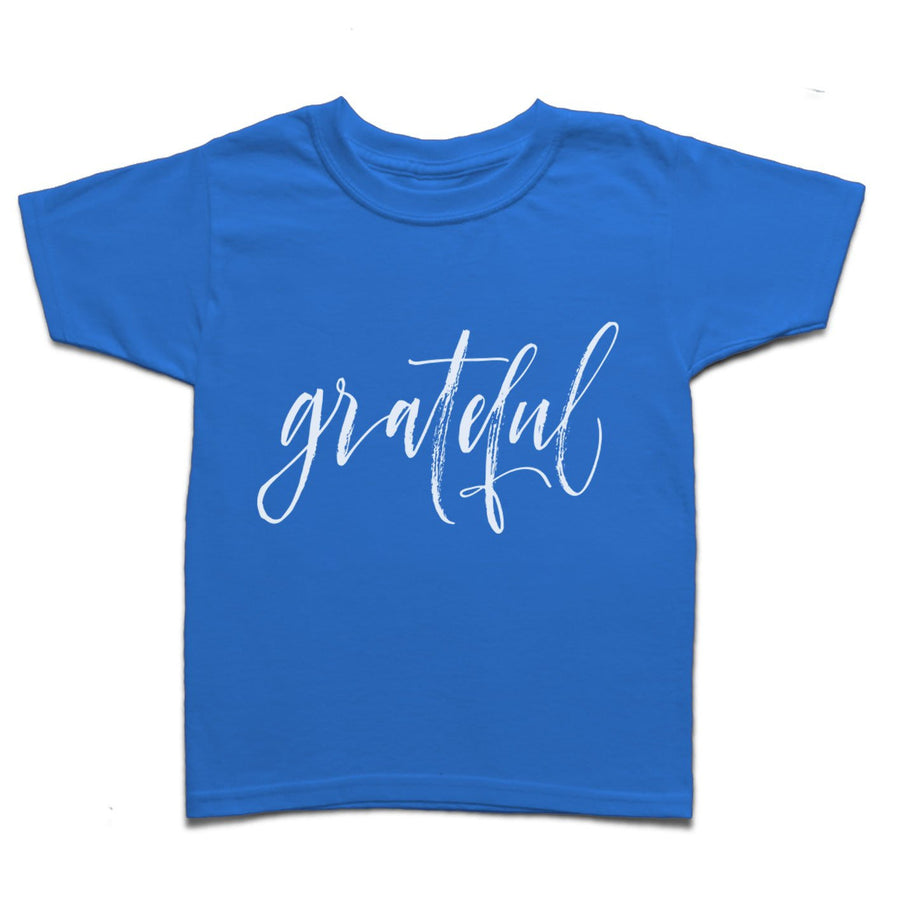 Grateful Calligraphic Hand Lettered Yoga Kid's T-shirt