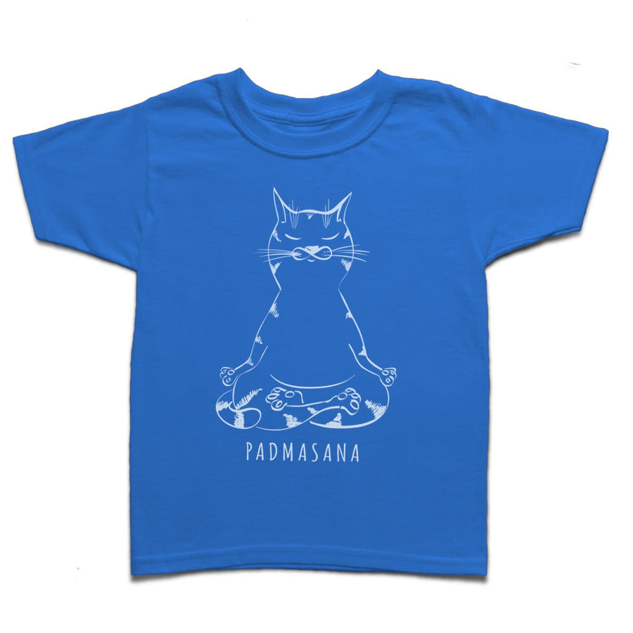 Yoga Cat Lotus Pose Padmasana Kid's T-shirt