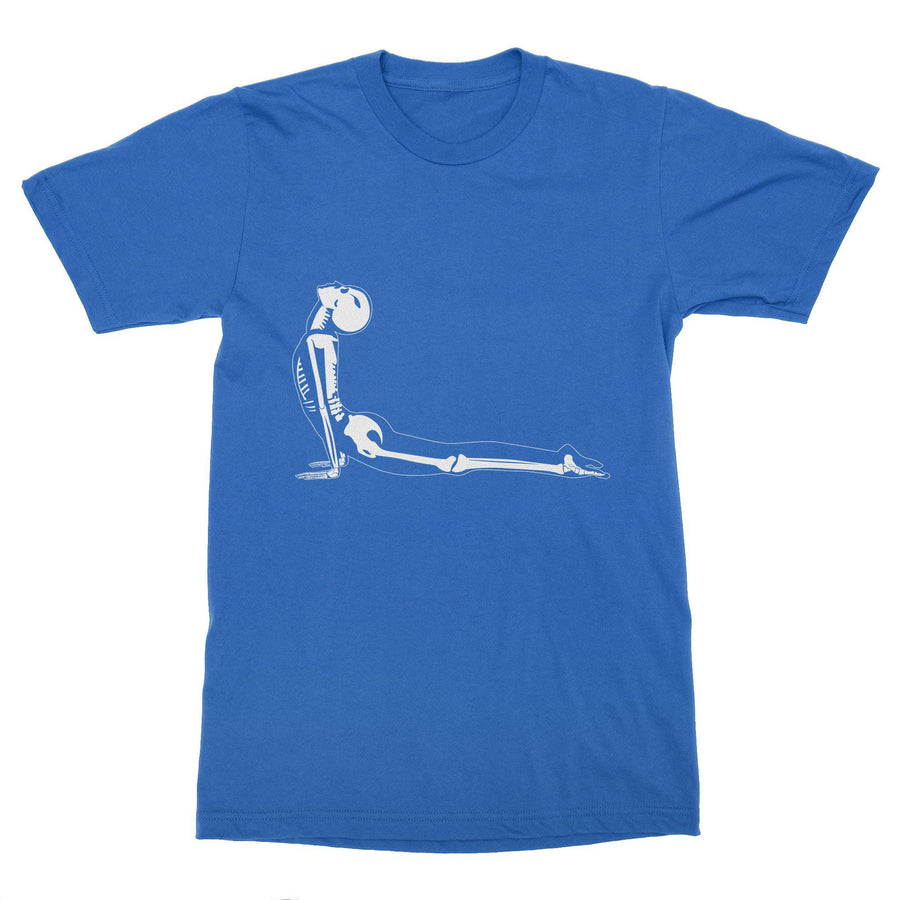 X-Ray Cobra Yoga Pose Bhujanagasana Men's T-Shirt – White Design