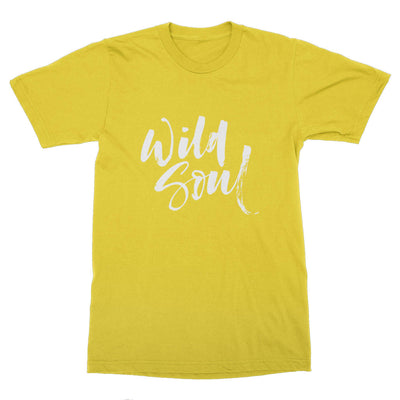 Wild Soul Calligraphy Men's T-Shirt – White Design