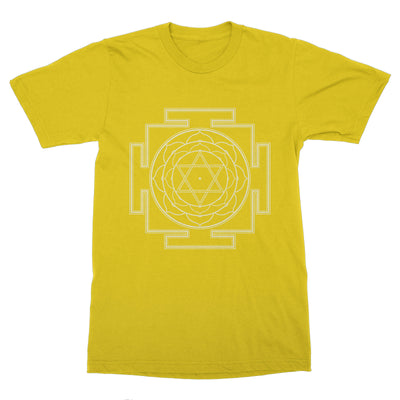Bhuvaneshwari Yantra Symbol of Happiness Men's T-Shirt – White Design