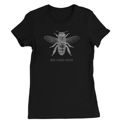 Bee Here Now Yoga Women's T-Shirt - White Design