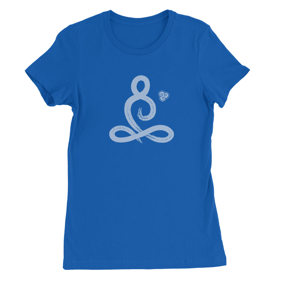 Brush Stroke Meditator Women's T-Shirt - White Design