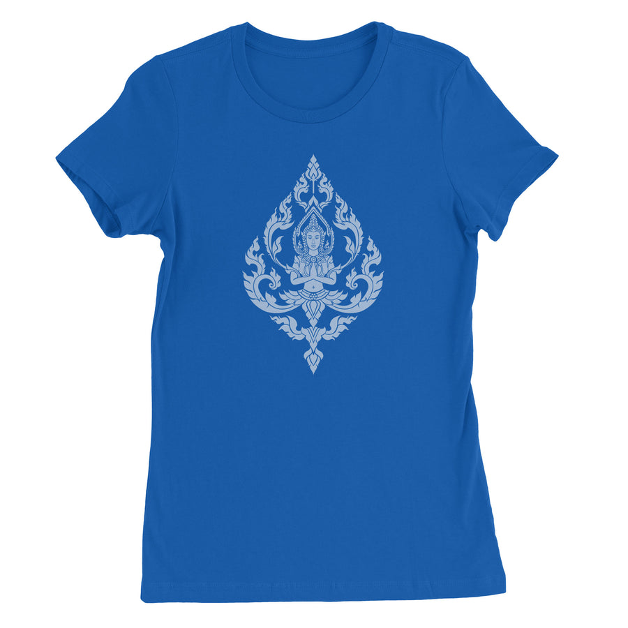 Thai Bodhisattva of Compassion Women's T-Shirt - White Design