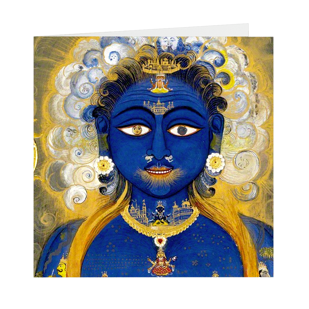 "Vishvarupa The Universal Form - 5"" X 5"" Blank Greeting and Note Card"