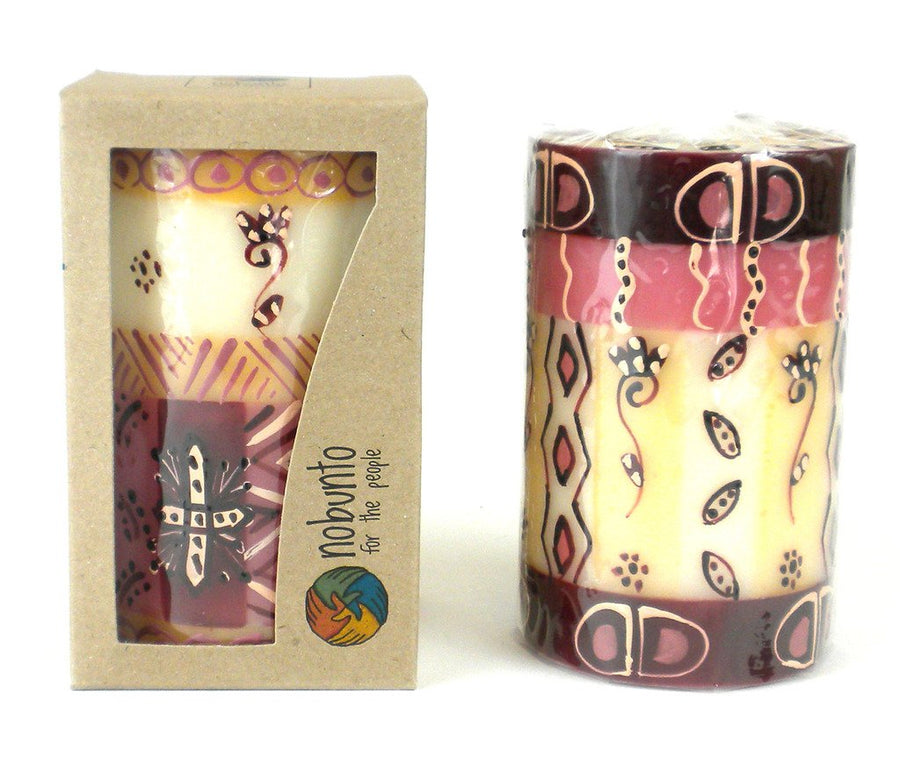 Hand Painted Candle - Single in Box - Halisi Design - Nobunto (Fair Trade)