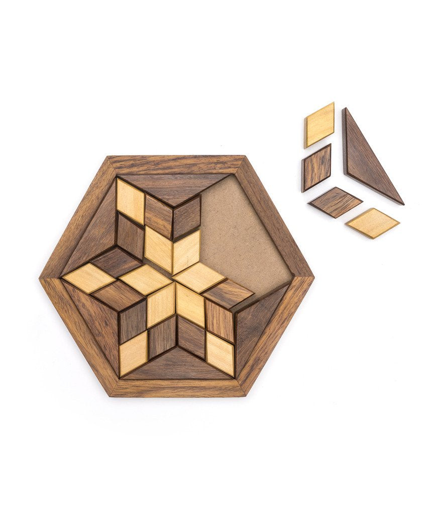 Wooden Star Puzzle - Matr Boomie (Fair Trade)