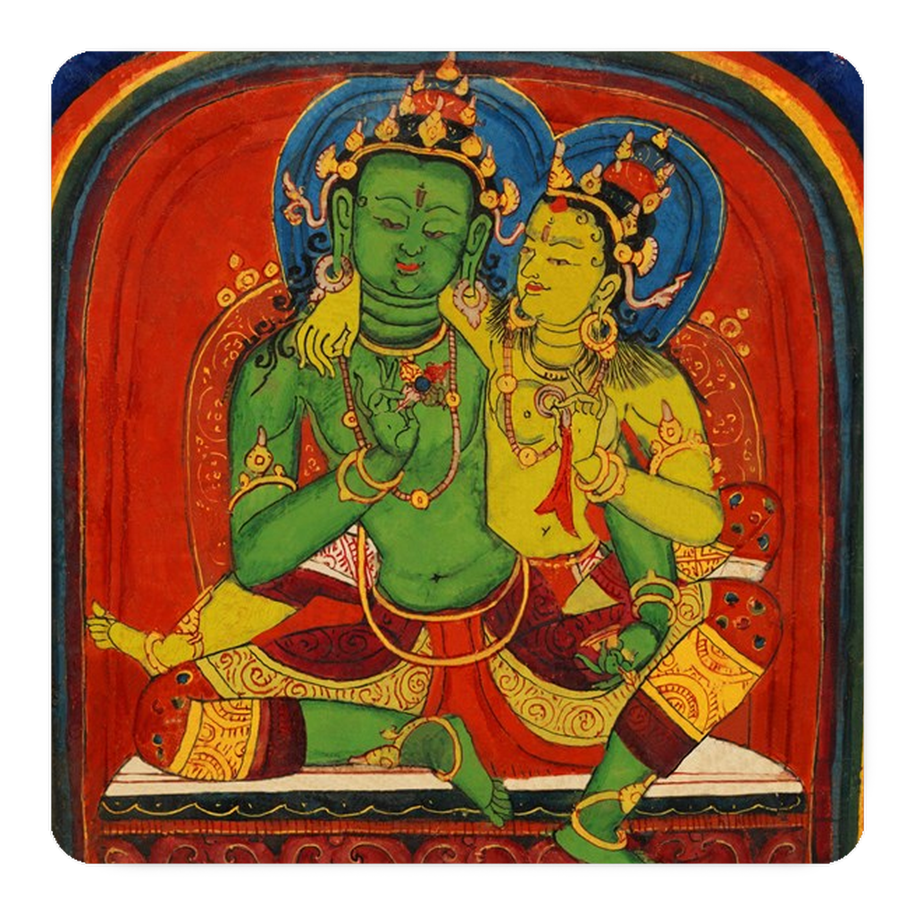 Tibetan Buddhist Initiation Cards Art Magnets Set