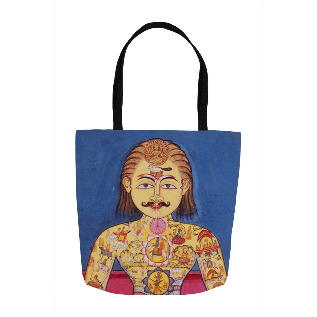 Illuminated Yogi Tote Bags