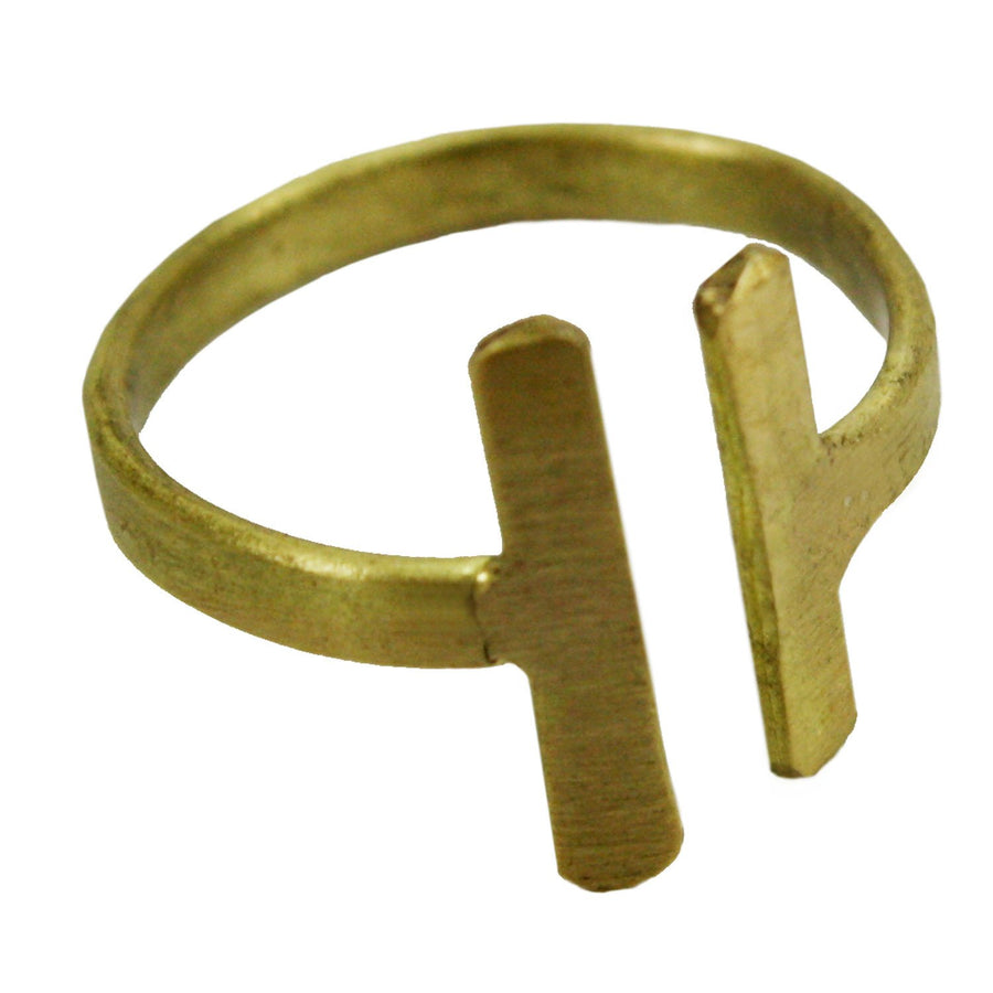 Perpendicular Ring - gold - WorldFinds (Fair Trade)