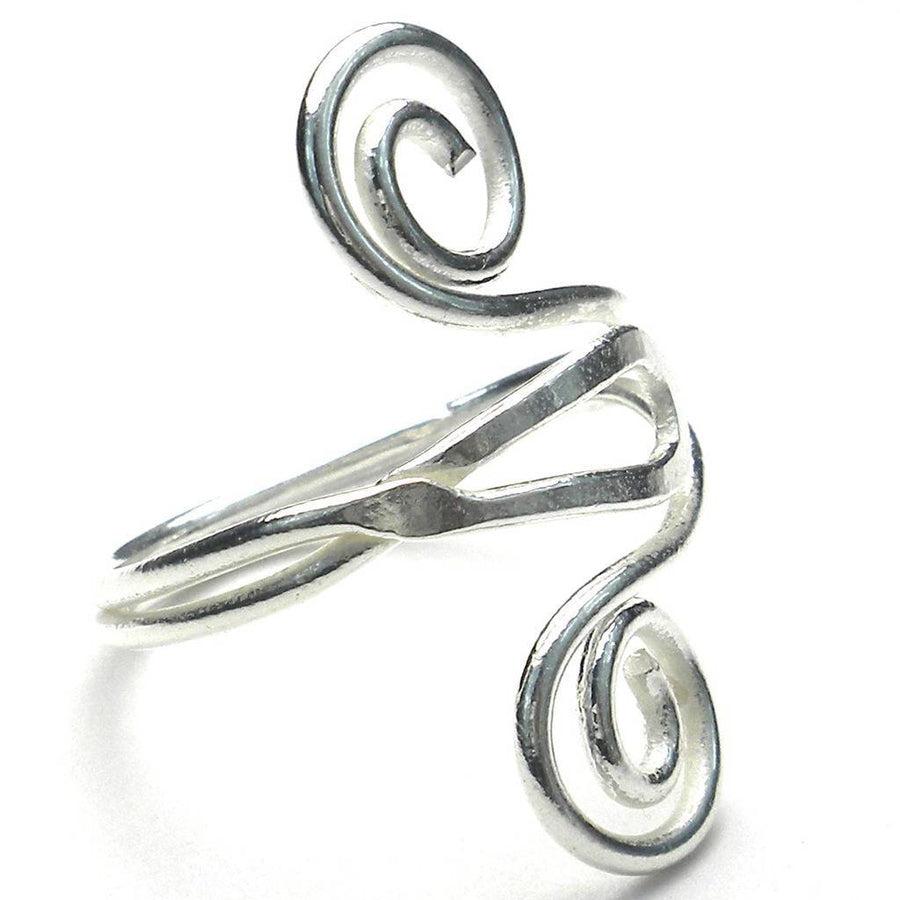 Silver Swirl Ring - Artisana (Fair Trade)