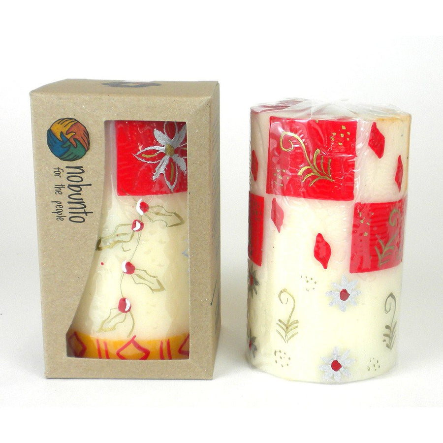 Hand Painted Candle - Single in Box - Kimeta Design - Nobunto (Fair Trade)