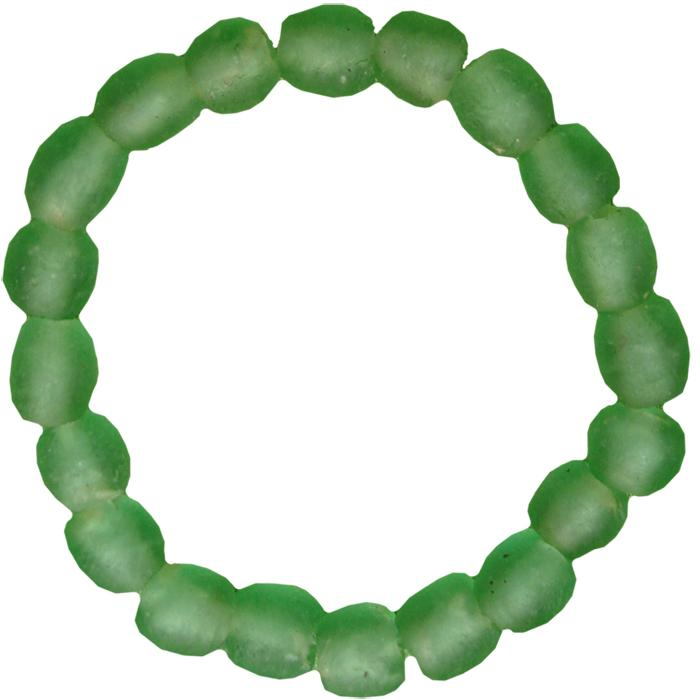 Global Mamas Glass Pearls Bracelet Moss - Global Mamas (Fair Trade)