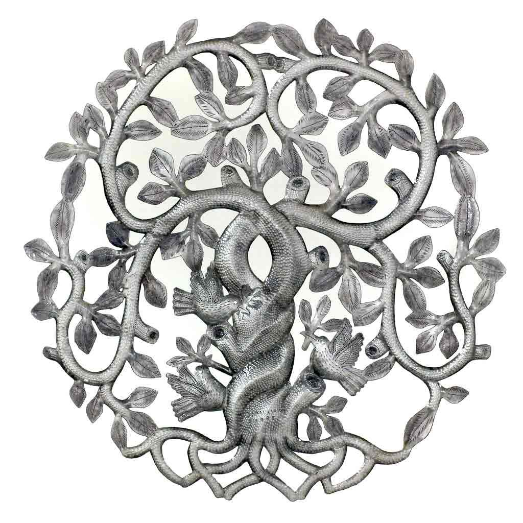 Twisted Tree of Life with Swirling Branches Wall Art - Croix des Bouquets (Fair Trade)