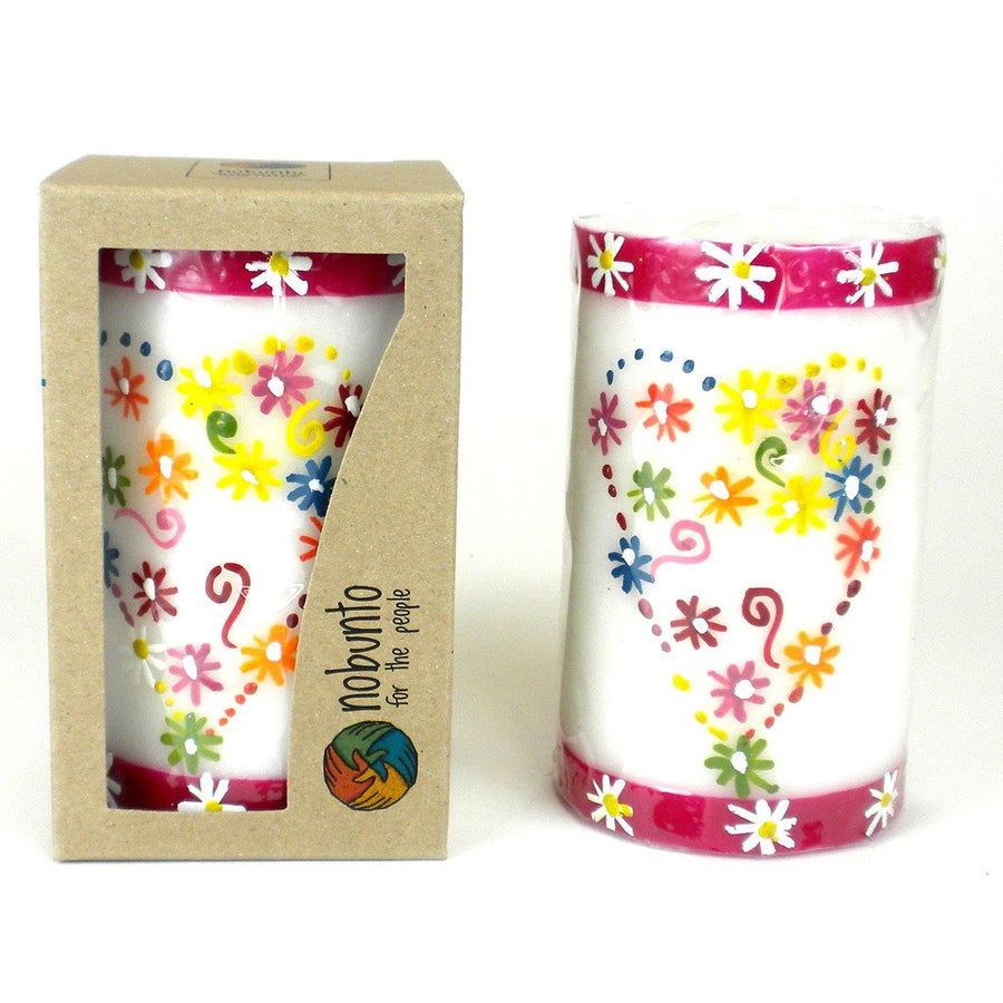 Hand Painted Candle - Single in Box - Mamako Design - Nobunto (Fair Trade)