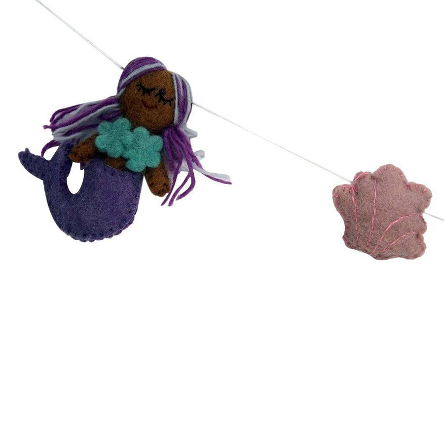 Mermaid Felt Garland - Global Groove (Fair Trade)